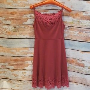 NWOT BARELY WORN Free People Pink Crocheted Dress!